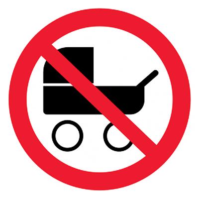 Запрещающий знак Вход с колясками запрещен