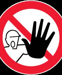 Запрещающий знак Доступ посторонним запрещен (Р06)