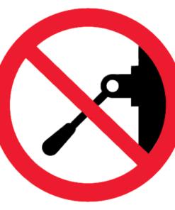 Запрещающий знак Запрещается включать машину (устройство)