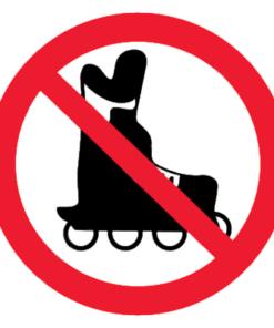 Запрещающий знак Запрещается вход на роликовых коньках