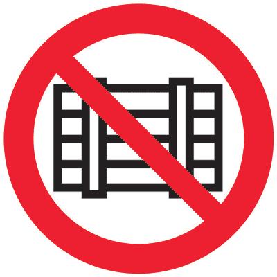 Запрещающий знак Запрещается загромождать проходы (или) складировать (P12)