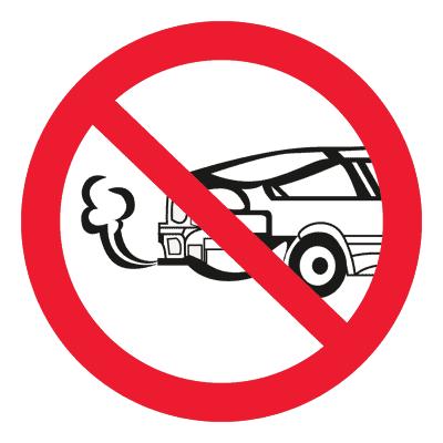 Запрещающий знак Запрещается запуск двигателя