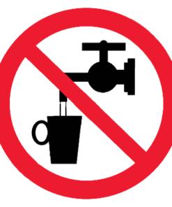 Запрещающий знак Запрещается использовать в качестве питьевой воды (P05)