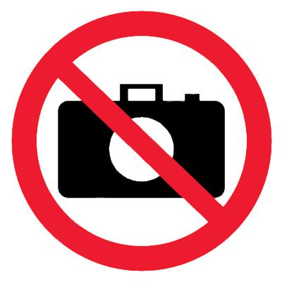 Запрещающий знак Запрещается пользоваться фотоаппаратом