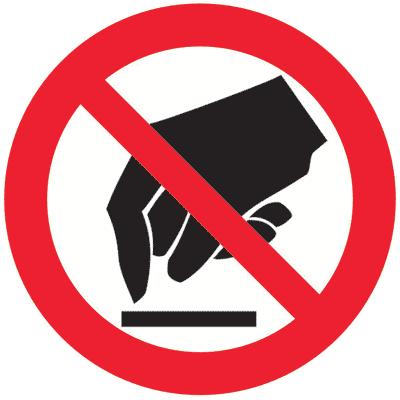 Запрещающий знак Запрещается прикасаться. Опасно (P08)