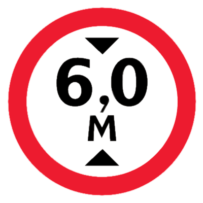 Запрещающий знак Знак дорожный ограничение высоты