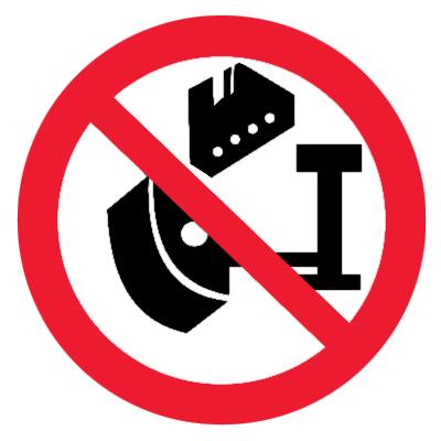 Запрещающий знак Накачивание шин без защитного устройства запрещено