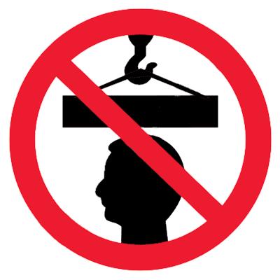Запрещающий знак Не стой под грузом