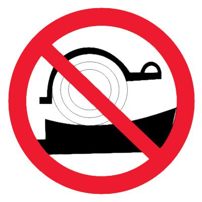 Запрещающий знак Стоянка транспортных средств без упорных колодок запрещена