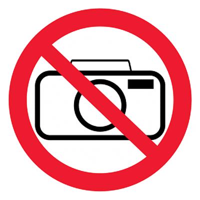 Запрещающий знак Фотографировать запрещено
