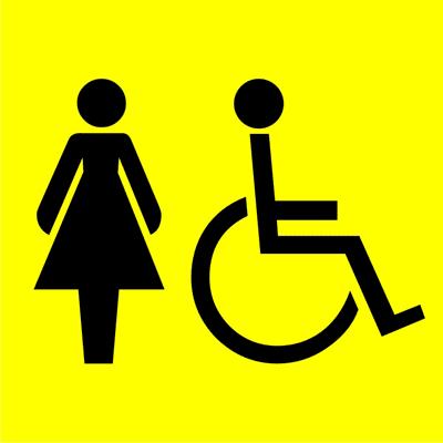 Знак Женский туалет для инвалидов