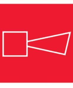 Знак Звуковой оповещатель пожарной тревоги ( F 11)