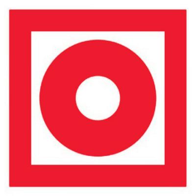 Знак Кнопка включения установок пожарной автоматики f10