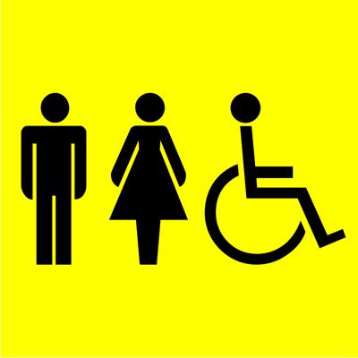Знак Мужской и женский туалет для инвалидов