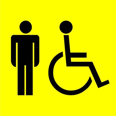 Знак Мужской туалет для инвалидов