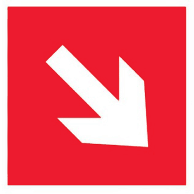 Знак Направляющая стрелка под углом 45 градусов (F01-02)