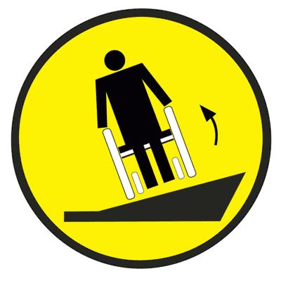 Знак Осторожно! Крутой боковой наклон