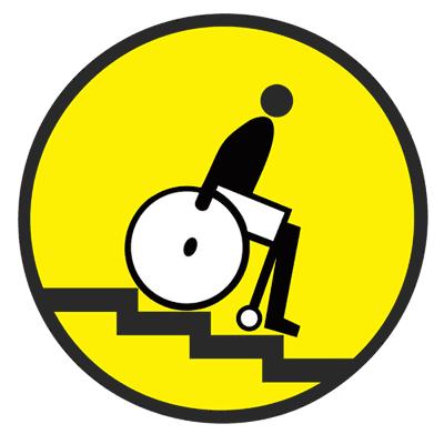 Знак Осторожно! Лестница вниз