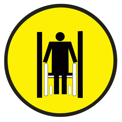 Знак Осторожно! Ограниченная ширина прохода