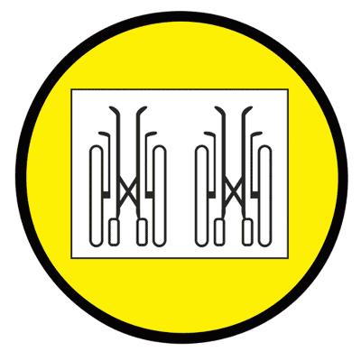 Знак Осторожно! Транспортирование и хранение кресел-колясок только в сложенном виде