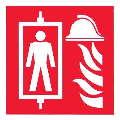 Знак Пиктограмма лифта для пожарных
