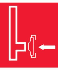 Знак Пожарный сухотрубный стояк (F08)