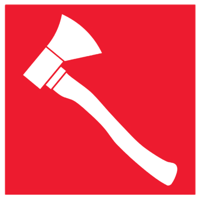 Знак Пожарный топор