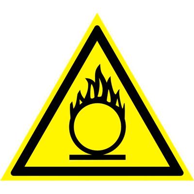 Знак Пожароопасно! Окислитель W 11