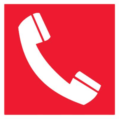 Знак Телефон для использования при пожаре (F05)