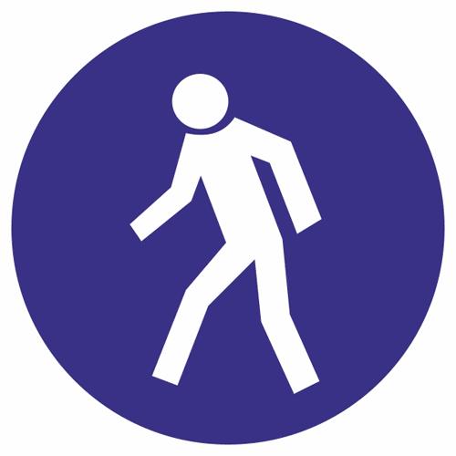 Знак для строительной площадки Проход здесь