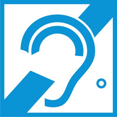 Знак доступность для слабослышащих