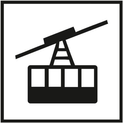 Знак 033 Канатная подвесная дорога с большими кабинами