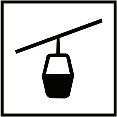 Знак 034 Канатная подвесная дорога с малыми кабинами