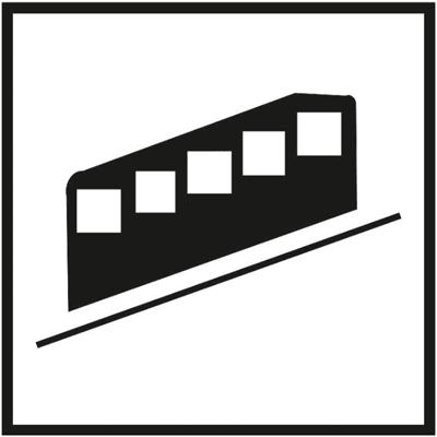 Знак 035 Фуникулер (зубчатая железная дорога)