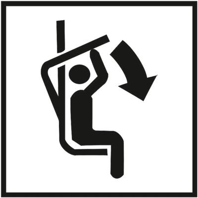 Знак 037 Опустите поручень