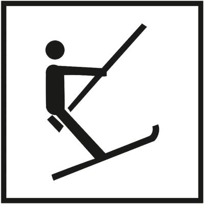 Знак 044 Бугельный подъемник