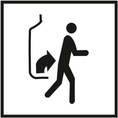 Знак 055 Поднимитесь и выходите (для пешеходов)