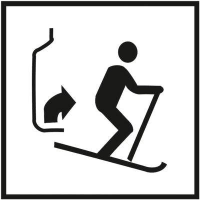 Знак 056 Поднимайтесь и выходите (для лыжников)
