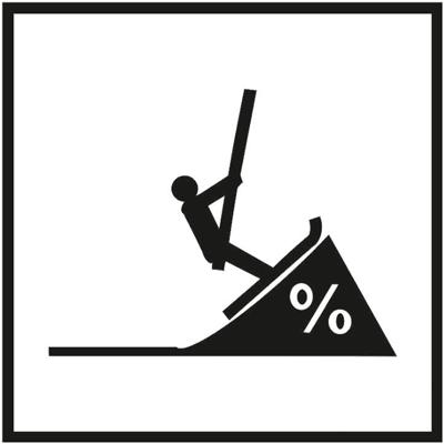 Знак 057 Крутой склон (для подъемных склонов)