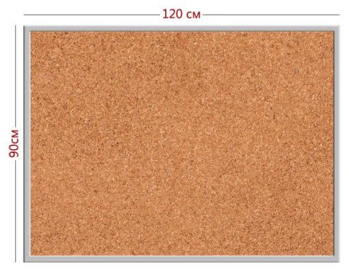 Информационная доска стенд (пластик + пробковое полотно 90см х 120см + алюминиевая рамка) | информационная доска