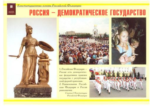 Комплект плакатов Конституционные основы Российской Федерации