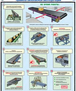 Комплект плакатов Ленточные конвейеры. Правила безопасной эксплуатации