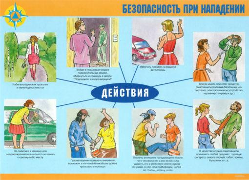Комплект плакатов Обеспечение личной безопасности в экстремальных ситуациях
