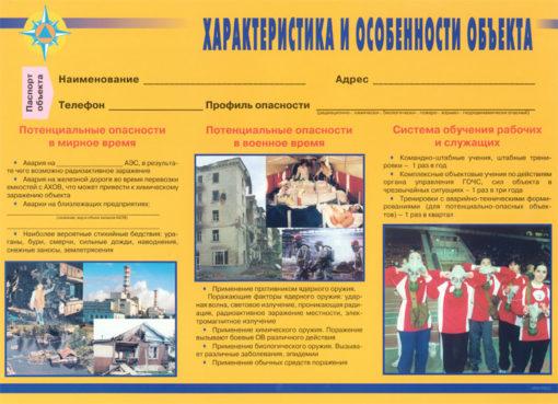 Комплект плакатов Уголок по ГО и ЧС объекта