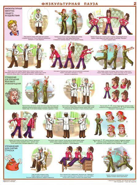 Комплект плакатов Физкультурная пауза