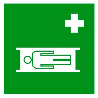 Медицинский знак Средства выноса (эвакуации) пораженных (EC 02)
