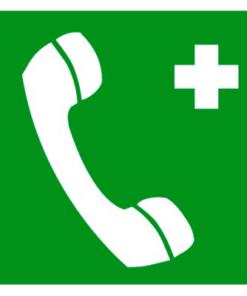 Медицинский знак Телефон связи с пунктом (скорой помощью) (EC 06)