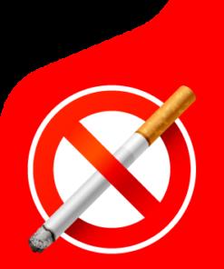 Наклейка Даже не думай о курении