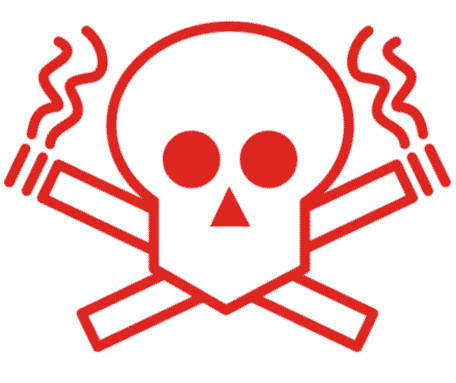Наклейка Курение убивает 2