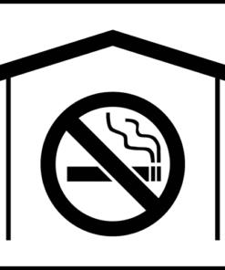 Наклейка Не курить в комнате